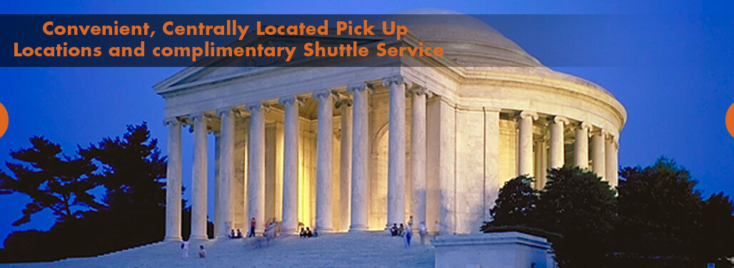 Convenient, centrally located pick up locations and complimentary shuttle service