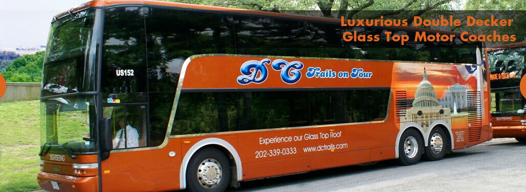 Luxurious Double Decker Glass Top Motor Coaches